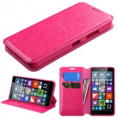 Nokia Lumia 640 Hot Pink Wallet with Tray