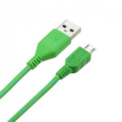 Green Woven Pattern Data Cable