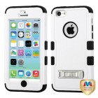 Apple iPhone 5c Natural Ivory White/Black Hybrid Phone Protector Cover (with Stand)