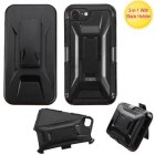 Apple iPhone 7 Black/Black Advanced Armor Stand Case with Black Holster