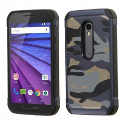 Motorola Moto G 3rd Gen Camouflage Navy Blue Backing/Black Astronoot Case