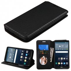 LG G Stylo Black Braided Wallet