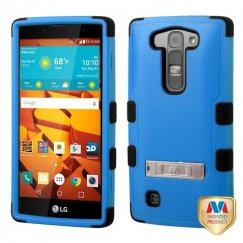 LG LS751 Volt 2 Natural Dark Blue/Black Hybrid Case with Stand