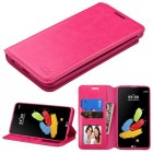 LG G Stylus 2 Hot Pink Wallet(with Tray)