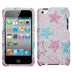 Apple iPod Touch (4th Generation) Stylish Stars Diamante Case