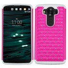 LG V10 Hot Pink/Solid White FullStar Protector Cover
