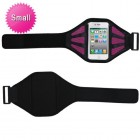 Vertical Pouch Universal Black Sport Armband (with Hot Pink Mess Ports)
