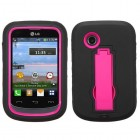 LG 306G Hot Pink/Black Symbiosis Stand Case