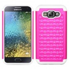 Samsung Galaxy E5 Hot Pink/Solid White FullStar Case