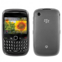 Blackberry 9300 Curve Semi Transparent Smoke Candy Skin Cover - Rubberized