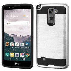 LG LG G Stylo 2 Plus Silver/Black Brushed Hybrid Case