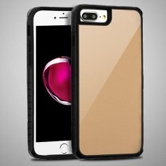 Gold Tempered Glass/Black Fusion Protector Cover
