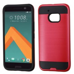 HTC 10 Red/Black Brushed Hybrid Case