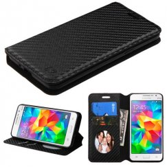 Samsung Galaxy Grand Prime Black Braided Wallet