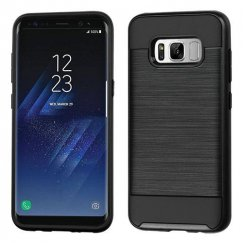 Samsung Galaxy S8 Plus Black/Black Brushed Hybrid Case