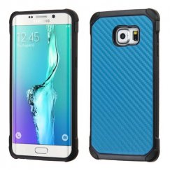 Samsung Galaxy S6 Edge Plus Blue Carbon-Fiber Backing/Black Astronoot Case