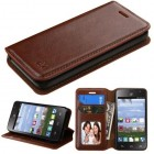 ZTE Sonata 2 / Zephyr Brown Wallet with Tray