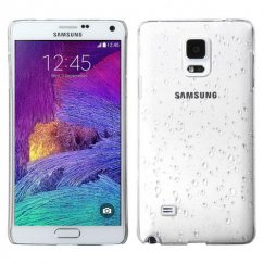 Samsung Galaxy Note 4 Transparent White Gradient Water Drop Back Case