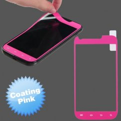 Samsung Galaxy S2 Coating Screen Protector/ Pink