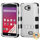 LG Tribute Natural Gray/Black Hybrid Phone Protector Cover (with Stand)