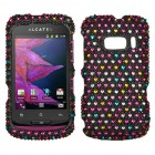 Alcatel One Touch 918 Sprinkle Dots Diamante Phone Protector Cover