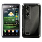 LG Thrill 4G Black Cosmo Back Protector Cover