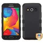 Samsung Galaxy Avant Rubberized Black/Black Hybrid Phone Protector Cover