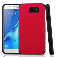Samsung Galaxy J7 Red/Black Hybrid Protector Cover