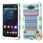 Motorola Droid Turbo XT1254 Tribal Sun/Electric Green Hybrid Phone Protector Cover (with Stand)
