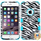 Apple iPhone 6/6s Plus Zebra Skin/Tropical Teal Hybrid Case