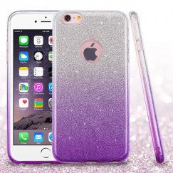 Apple iPhone 6 Plus Purple Gradient Glitter Hybrid Case