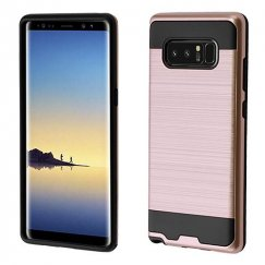 Samsung Galaxy Note 8 Rose Gold/Black Brushed Hybrid Case