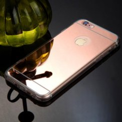 Apple iPhone 6/6s Plus Rose Gold/Transparent Clear Gummy Cover