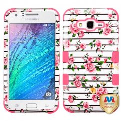 Samsung Galaxy J7 Pink Fresh Roses/Electric Pink Hybrid Case