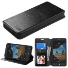 Alcatel One Touch Fierce XL Black Wallet(with Tray)