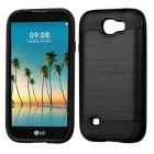 LG K3 Black/Black Brushed Hybrid Protector Cover