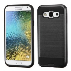 Samsung Galaxy E5 Black/Black Brushed Hybrid Case