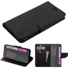 Sony Xperia X Black Pattern/Black Liner wallet (with card slot)