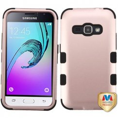 Samsung Galaxy J1 Rose Gold/Black Hybrid Case