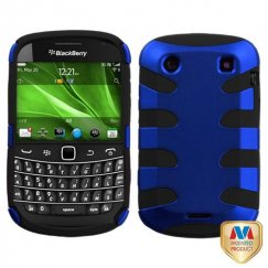 Blackberry Bold 9930 Titanium Dark Blue/Black Fishbone Case