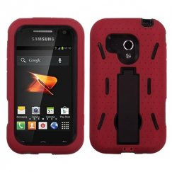 Samsung Galaxy Rush Black/Red Symbiosis Stand Case
