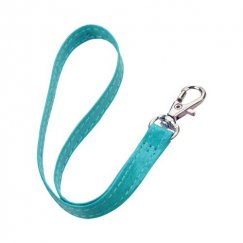 (5PCS) Blue Leather Hand Wrist Lanyard (Metal Lobster Clip) (7.5inch)