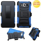 Nokia Lumia 950 Black/ Blue Advanced Armor Stand Protector Cover (With Black Holster)