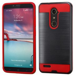 ZTE Grand X Max 2 Black/Red Brushed Hybrid Case