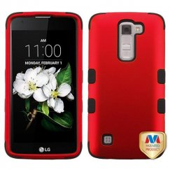 LG K7 Titanium Red/Black Hybrid Case