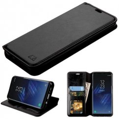 Samsung Galaxy S8 Black Wallet with Tray