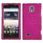 LG Spectrum 2 Hot Pink Diamante Case