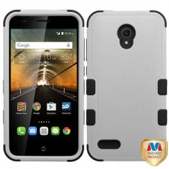 Alcatel One Touch Conquest Natural Gray/Black Hybrid Case