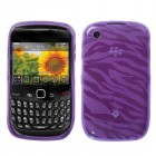 Blackberry 9300 Curve Purple Zebra Skin Candy Skin Cover