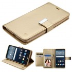 LG G Stylo Gold/Gold PU Leather Wallet with extra card slots